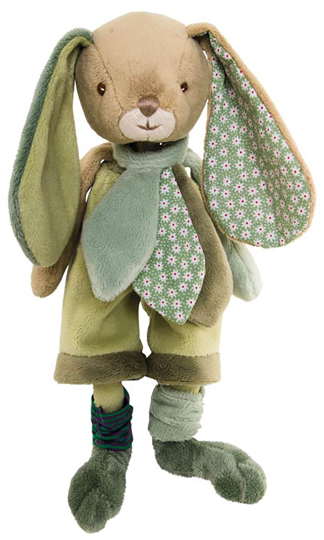 Bukowski Design Benji Brothers (25cm) Stofftier Plüsch Hase mit grüner Hose geeignet für Kleinkinder ab 0 Monaten
