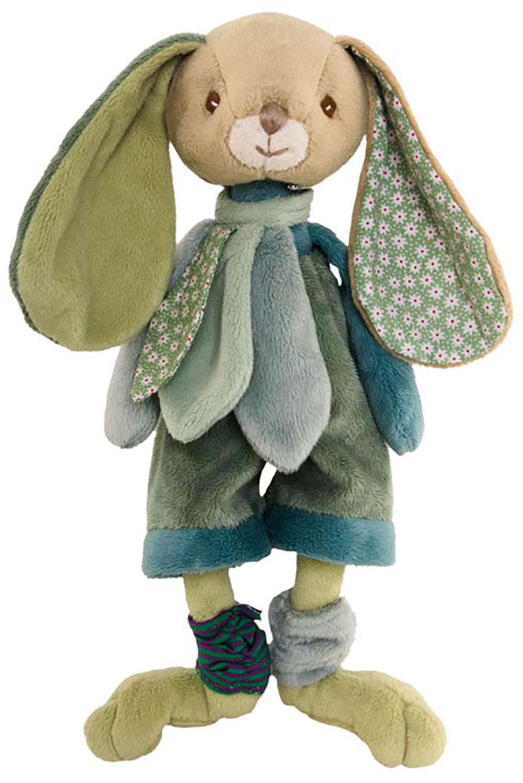 Bukowski Design Benji Brothers (25cm) Stofftier Plüsch Hase mit oliver Hose geeignet für Kleinkinder ab 0 Monaten