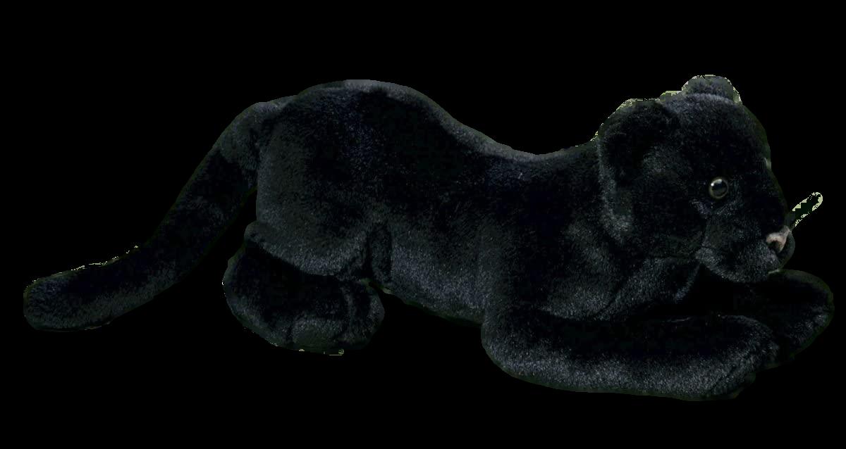 Förster Stofftiere 7420 großer Panther 35 cm lang Raubkatze Plüschtier