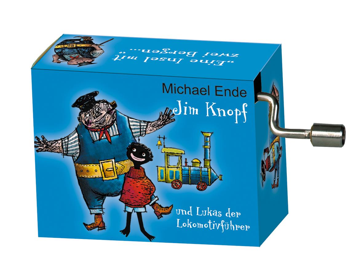 Fridolin 58356 Spieluhr Jim Knopf Lummerlandlied blau Drehorgel Kurbelwerk