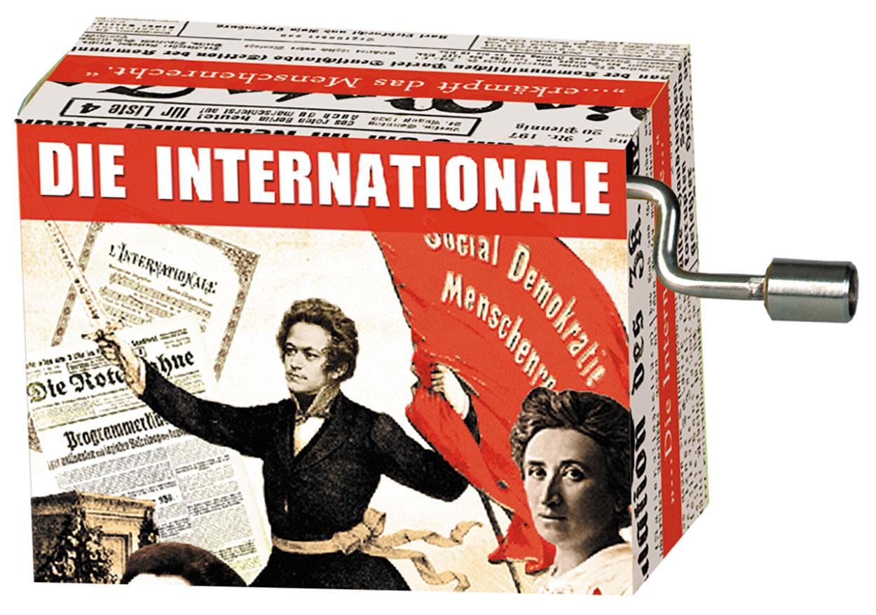 Fridolin Spieluhr Music Box Die Internationale 58461 Spieldose Drehorgel Kurbelwerk
