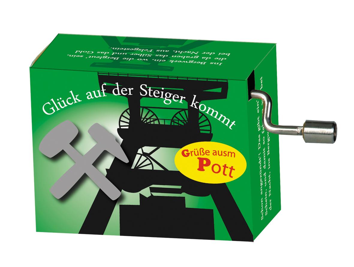 Fridolin Spieluhr Music Box Steigerlied grün 99226 Drehorgel Spielwerk Musikbox