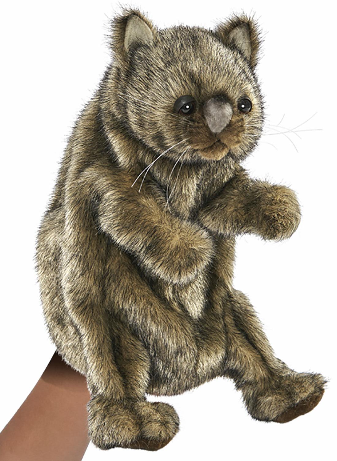 Hansa Handpuppe Wombat originalgetreu 23cm Beutelsauger Theaterpuppe