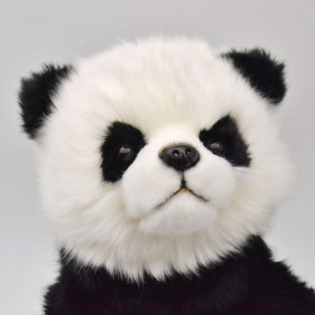 Handpuppe Panda originalgetreu 30cm PandabärTheaterpuppe Hansa 7165 Kopf im detail