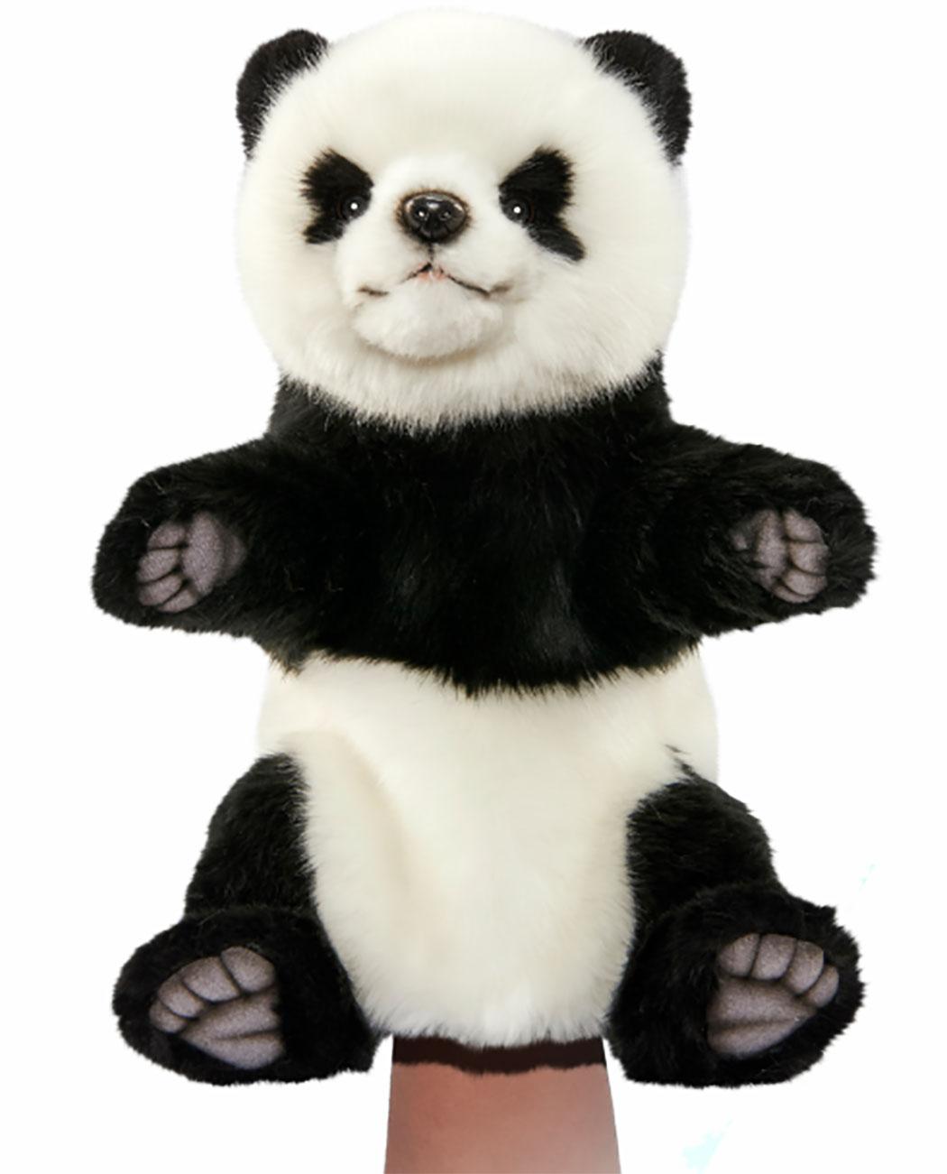 Handpuppe Panda originalgetreu 30cm Pandabär Theaterpuppe Hansa 7165