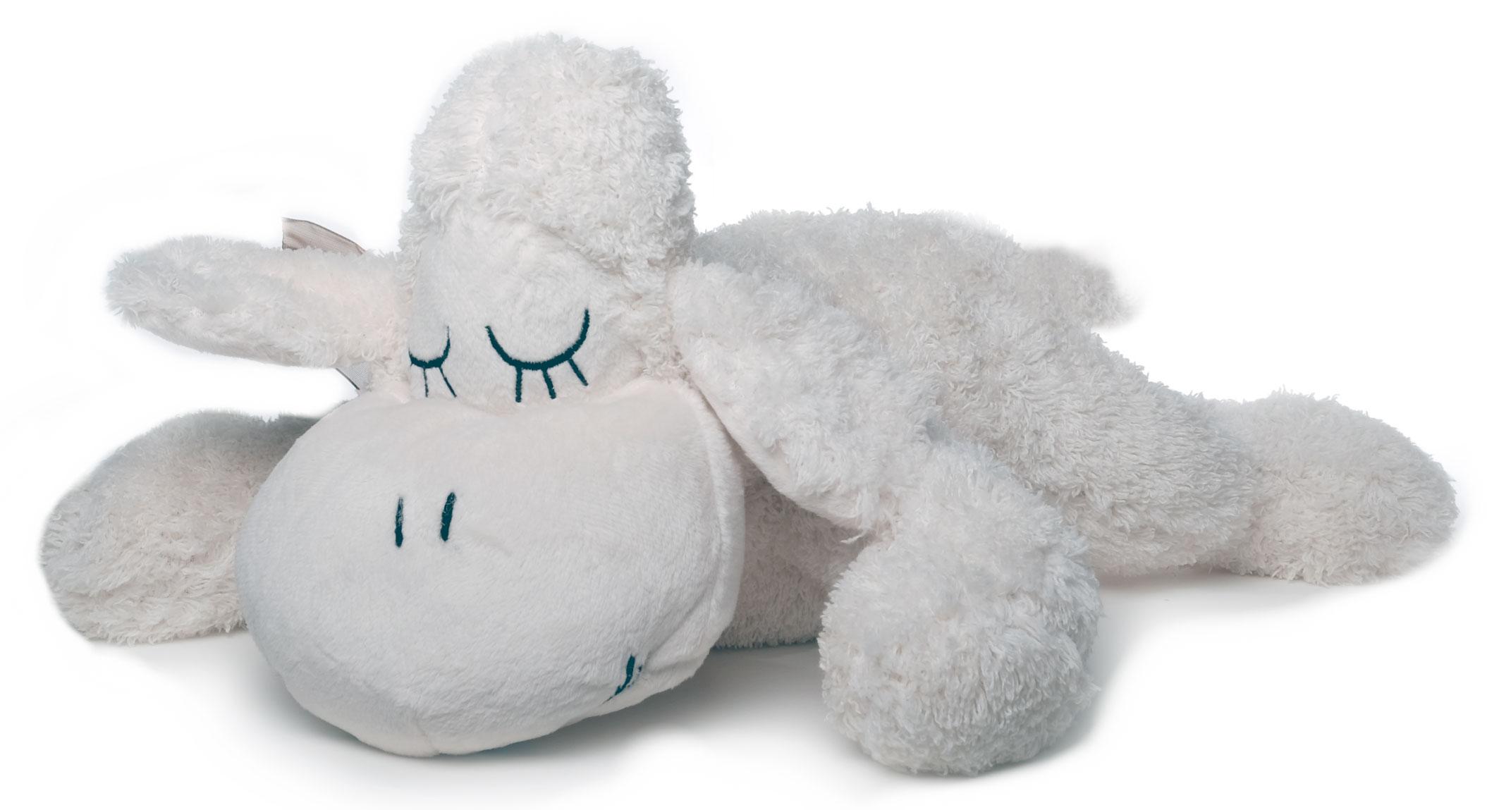 Inware 6222 Kuscheltier Schäfchen Sleepy 30 cm creme Kuschelschaf Schmusetier Schaf