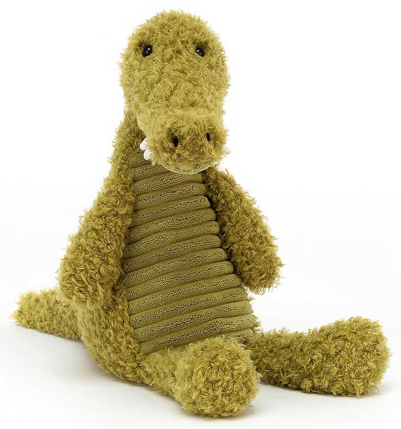 Wurly Croc ist ein vielbeschäftigter Kumpel. Dieser Krokodil hat einen wunderschönen Körper, ein büscheliges Fell und einen großen, bissigen Schlund! Mit weichen, weißen Zähnen und einem griffigen Schwanz ist dieses Wurly-Wunder tatsächlich sehr sanft und weich!