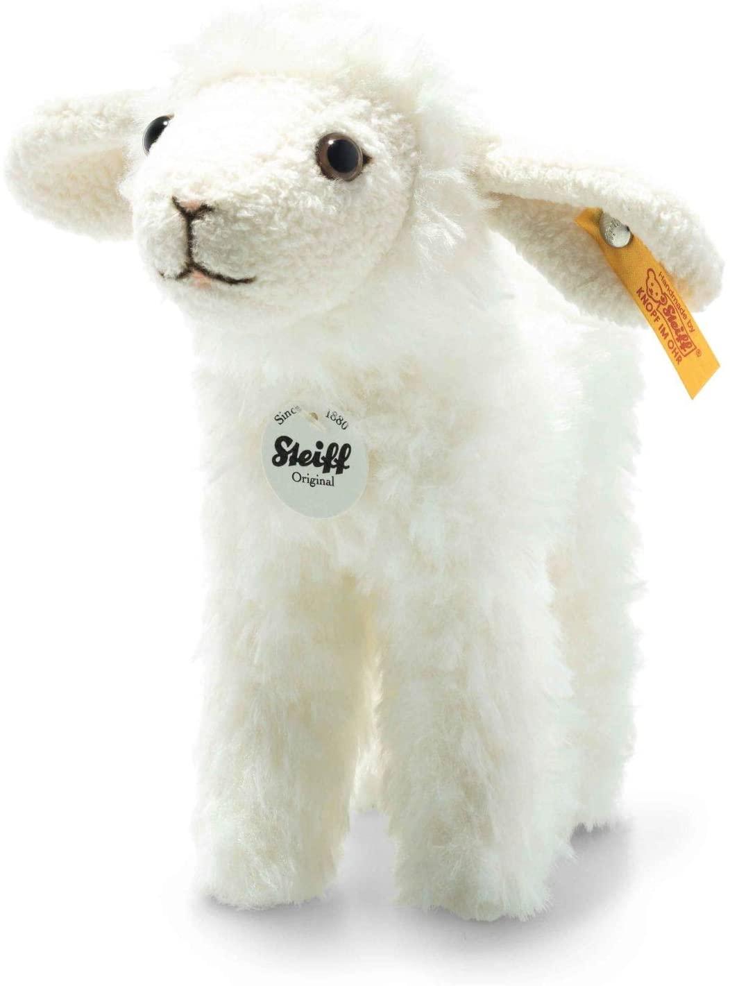 Steiff Anni Lamm-16 cm-Kuscheltier für Kinder-weich & kuschelig-waschbar-Creme (074233)