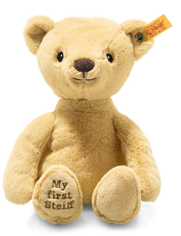 Steiff 242038 Soft Cuddly Friends My first Steiff Teddybär- 26 cm - Kuscheltier für Babys – kuschelig & weich - waschbar, beige 162 g