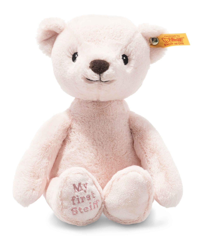 Steiff 242045 Soft Cuddly Friends My first Steiff Teddybär- 26 cm - Kuscheltier für Babys - rosa (242045), rosa 161 g
