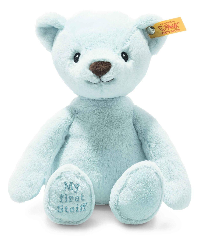 Steiff 242052 Soft Cuddly Friends My first Steiff Teddybär 26 cm Kuscheltier für Babys hellblau 242052 blau 161 g