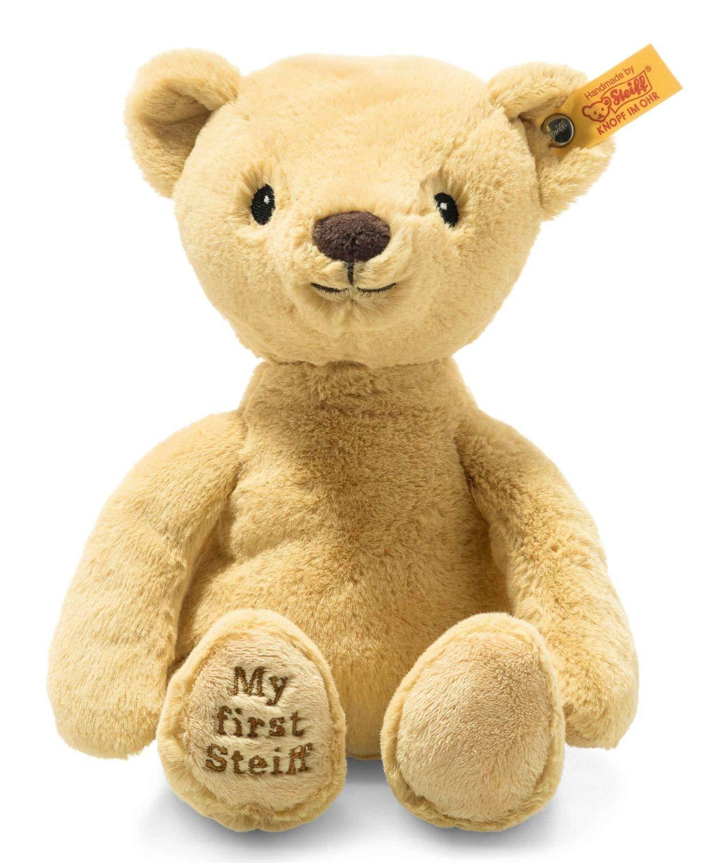 Steiff 242120 Soft Cuddly Friends My first Steiff Teddybär 26cm Kuscheltier für Babys goldblond (242120) beige 144 g