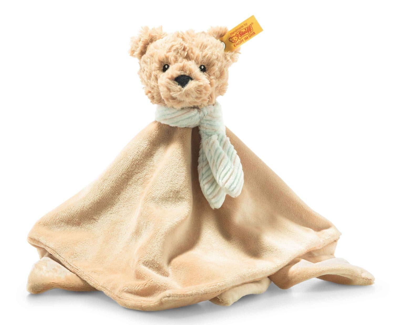 Steiff 242281 Soft Cuddly Friends Jimmy Teddybär Schmusetuch - 26 cm - Kuscheltier für Babys - beige (242281), beige 92 g