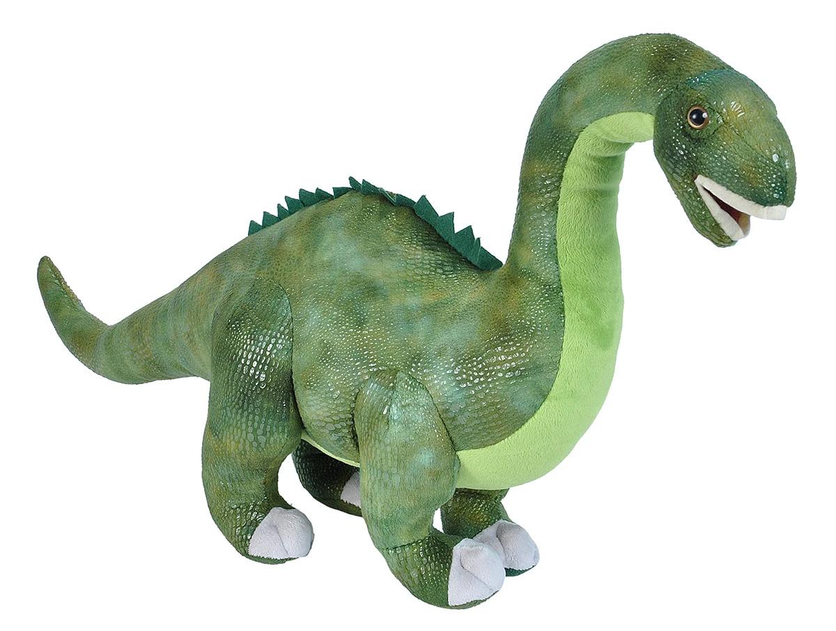 ....by Wild Republic: Langer Schwanz, kleines Gehirn Der Diplodocus ist wahrscheinlich der bekannteste unter allen Dinosauriern, da viele Dokumentarfilme darüber gedreht wurden und er in vielen Cartoons und Filmen gezeigt wurde. Es lebte in den Bergregionen Nordamerikas - in den Rocky Mountains, Colorado, Montana, Wyoming und Montana. Der Diplodocus befand sich vor mehr als 150 Millionen Jahren auf diesem Planeten, während des sogenannten Jurazeitalters. Der Name Diplodocus stammt aus dem Griechischen und bedeutet