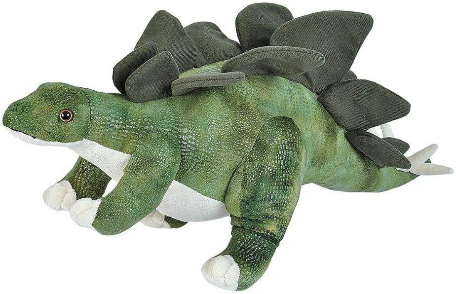 Stegosaurus 22236 Wild Republic Stofftier ca. 63cm Dinosaurier Pflanzenfresser Dino Wild Republic Stofftier Dino Stegosaurus, 63 cm. Der friedliche Pflanzenfresser aus der Jura Zeit kommt zu Ihnen nach Hause, um mit Ihnen zu kuscheln! Hergestellt aus hochwertigen Materialien, hat dieses Plüschtier einen kuscheligen und warmen Look. Realistisches Plüschspielzeug ist das perfekte Geschenk für Kinder. Spaß garantiert! Das Kuscheltier kann mit Wasser und milder Seife abgewischt werden, um Flecken zu entfernen! Das Kuscheltier ist aus absolut weichen und hochwertigen Materialien gefertigt. Es ist daher für Kinder jeden Alters und Erwachsene geeignet. Mit einer Größe von ca.76 cm ist das Kuscheltier Wild Republic Kuscheltier perfekt zum Spielen und Liebhaben. Erfüllt die Europäischen Sicherheitsstandards für Spielwaren: EN71 Teil 1, 2 & 3, für alle Altersgruppen